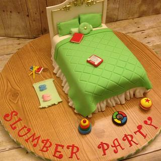 Slumber party cake - Cake by Talk of the Town Cakes LLC