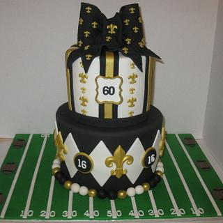 New Orleans Saints - Cake by DoobieAlexander