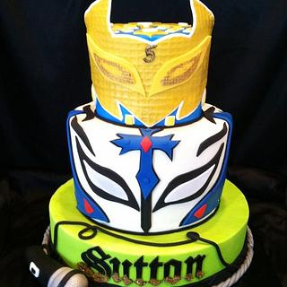 Wrestlers Rey mysterio and sin cara cake  - Cake by res3boys
