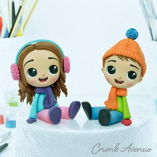 Winter Kids Cake Toppers