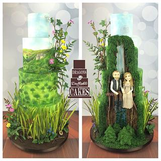Our woodland and Star Wars wedding cake