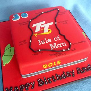 IOM TT biker cake - Cake by Deborah Cubbon (the4manxies)