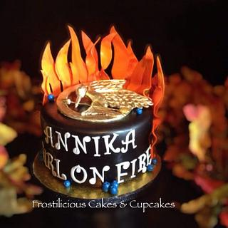 Girl on Fire - Cake by Frostilicious Cakes & Cupcakes