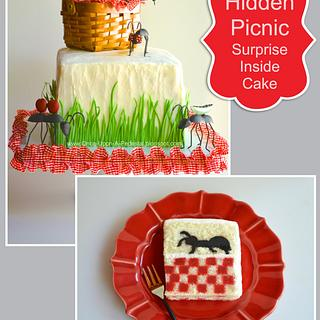 Surprise Inside Picnic Ants and Tablecloth - Cake by Deborah Stauch
