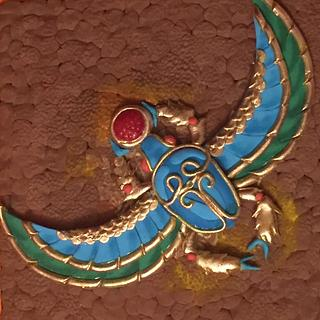 Egyptian bettle for Egypt Land of Mystery Sugar Art Collaboration