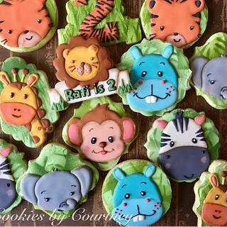 Jungle Theme Birthday Cookies