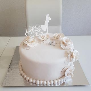 Hochzeit torte   - Cake by Azra Cakes