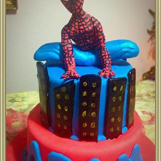 Spiderman cake - Cake by Angela de Ramos