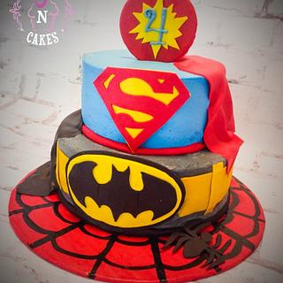 Super Heroes - Cake by Cups-N-Cakes