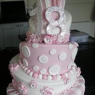 18th Wonky Cake - My very 1st x