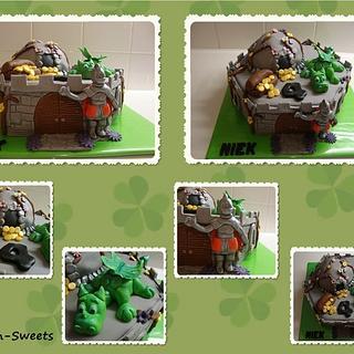 Dragon/ castle cake