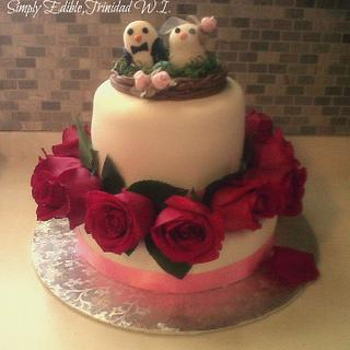 Engagement Cake - Cake by Shelly-Anne