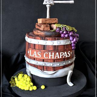 Grape press - Cake by Evangeline.Cakes