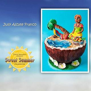 Colombian summer  - Cake by Jully Fondantartas