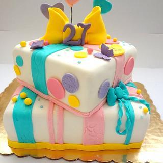 Fun Gift box cake!