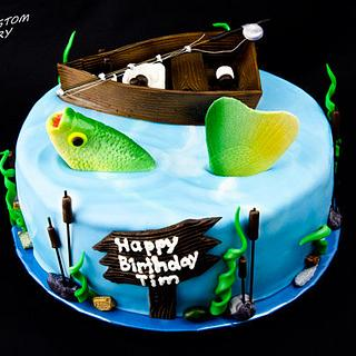 Gone Fishing Birthday Cake - Cake by Jenn