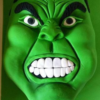 Incredible Hulk Cake - Cake by Hayleycakes1