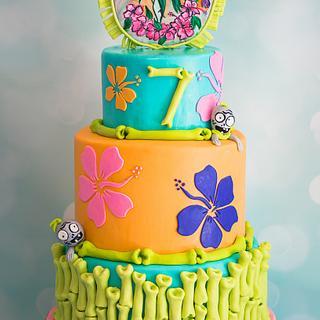 Zombie Luau Birthday Cake