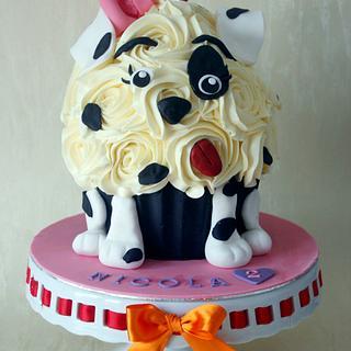 Dalmatian giant cupcake