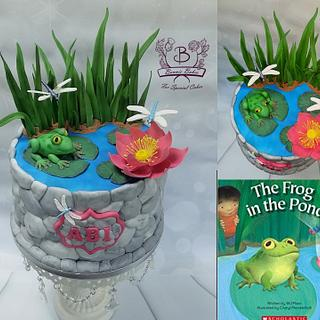 Frog in pond cake - Cake by Bonnie Bakes UAE