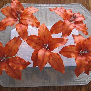 Gumpaste Tiger Lilies