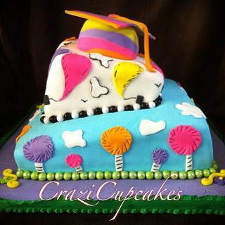 Dr Seuss Graduation Cake