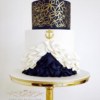 Nautical Engagement/Wedding Cake
