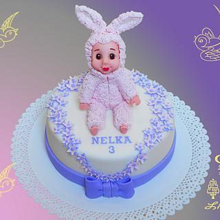 birthday cake -monchichi