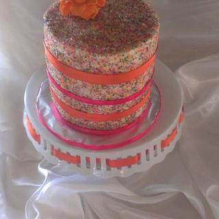 My daughter's sprinkle cake - Cake by lcressel