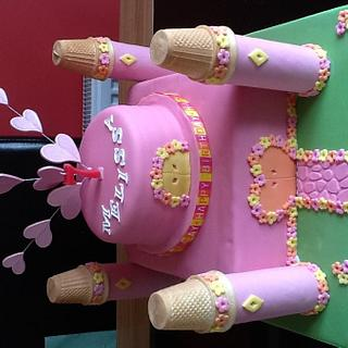 My daughter's 7th birthday cake. - Cake by Michelle.