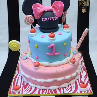 Minnie Mouse Cake - Cake by Kara's Custom Design Cakes