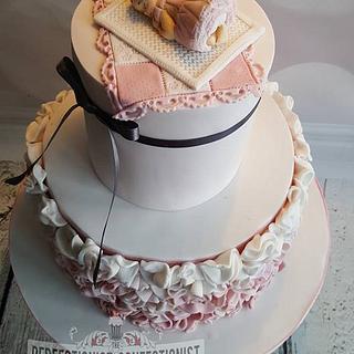 Jennifer - Ruffles Baby Shower Cake