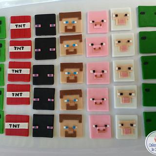 Minecraft Fondant Toppers