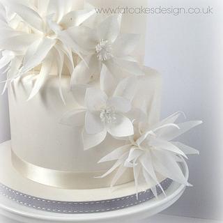 White winter wedding cake