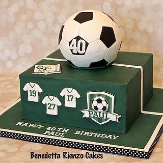 Soccer Theme 40th Birthday Cake