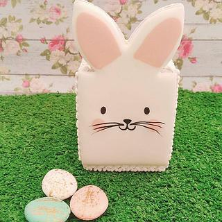 3-D Easter Bunny cookie box