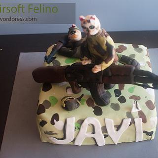 Airsoft Feline cake