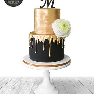 Golden Drip Cake
