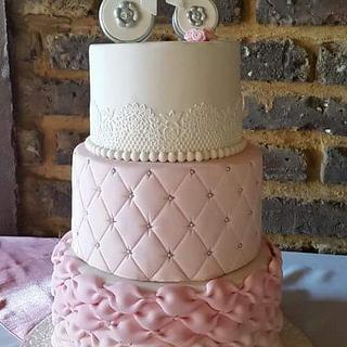 Baby Carriage Christening Cake - Cake by Kim Berriman