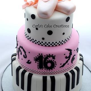 Ballerina and Piano cake