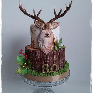Hand painted deer