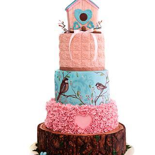 So Flo competition entry- Bird House cake