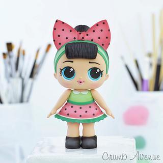Cute Doll Cake Topper
