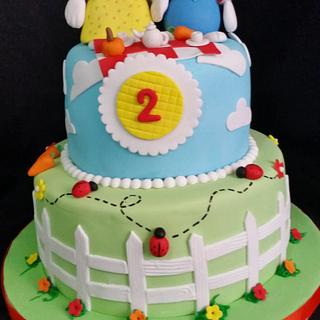 Max and Ruby cake!!!! - Cake by DeliciasGloria