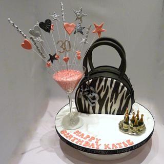 Zebra Print Handbag Cake