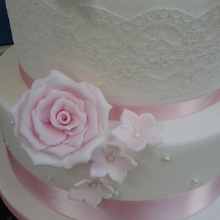 first dummy wedding cake