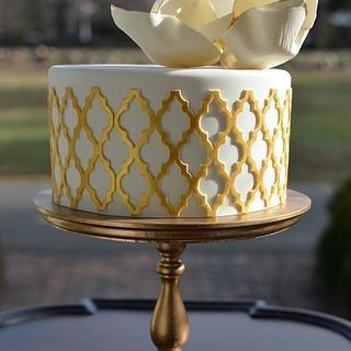 Gold Lattice Cake