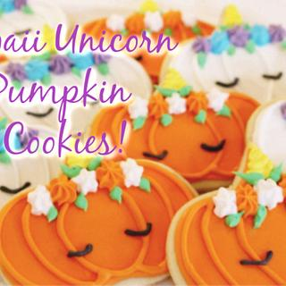 KAWAII UNICORN PUMPKIN SUGAR COOKIES!