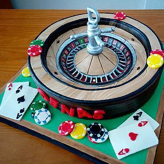 Casino roulette cake