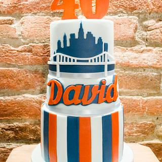 Baseball 40th Bday Cake - Cake by Art Bakin'